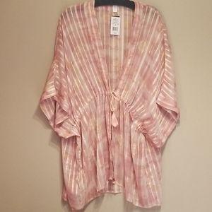🆕️Blush pink tie front kimono